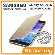 SAMSUNG Official Original Clear View Cover Case Galaxy A5 2016 Gold