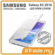 SAMSUNG Official Original Clear View Cover Case Galaxy A5 2016 Silver