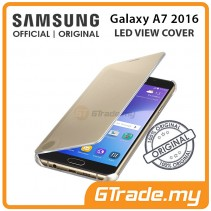 SAMSUNG Official Original Clear View Cover Case Galaxy A7 2016 Gold