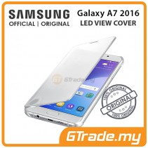 SAMSUNG Official Original Clear View Cover Case Galaxy A7 2016 Silver