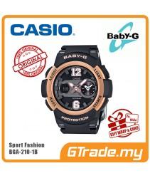 CASIO Ladies BABY-G BGA-210-1B Digital Watch Female Sport Fashion