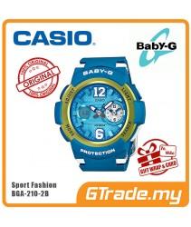 CASIO Ladies BABY-G BGA-210-2B Digital Watch Female Sport Fashion