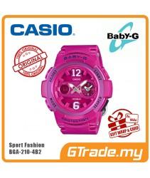 CASIO Ladies BABY-G BGA-210-4B2 Digital Watch Female Sport Fashion