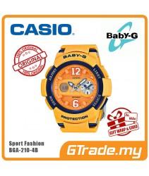 CASIO Ladies BABY-G BGA-210-4B Digital Watch Female Sport Fashion