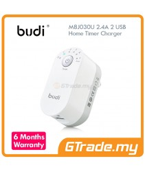 BUDI 2 USB 2.4A Timer Charger Apple iPhone 7 7S Plus 6S 6 Plus SE 5S 5