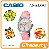 CASIO LADIES LTP-V300L-4AV Analog Watch | Multi-Hand Water Resistant