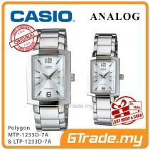 CASIO Couple MTP-1233D-7A & LTP-1233D-7A Couple Watch Sharp Clean [PRE]