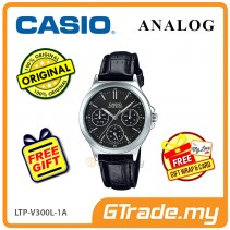 [READY STOCK] CASIO LADIES LTP-V300L-1AV Analog Watch | Multi-Hand Water Resistant