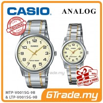 CASIO Couple MTP-V001SG-9B & LTP-V001SG-9B Couple Watch Simple Easy [PRE]
