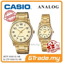 CASIO Couple MTP-V001G-9B & LTP-V001G-9B Couple Watch Simple Easy [PRE]