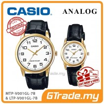 [READY STOCK] CASIO Couple MTP-V001GL-7B & LTP-V001GL-7B Couple Watch Simple Easy