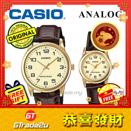 [READY STOCK] CASIO Couple MTP-V001GL-9B & LTP-V001GL-9B Couple Watch Simple Easy