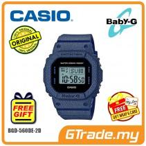CASIO Ladies BABY-G BGD-560DE-2D Digital Watch Denim Jeans Young Gen.