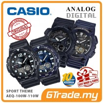 CASIO Men Sporty Watch Jam Tangan Casio Original Modern AEQ-100W-110W