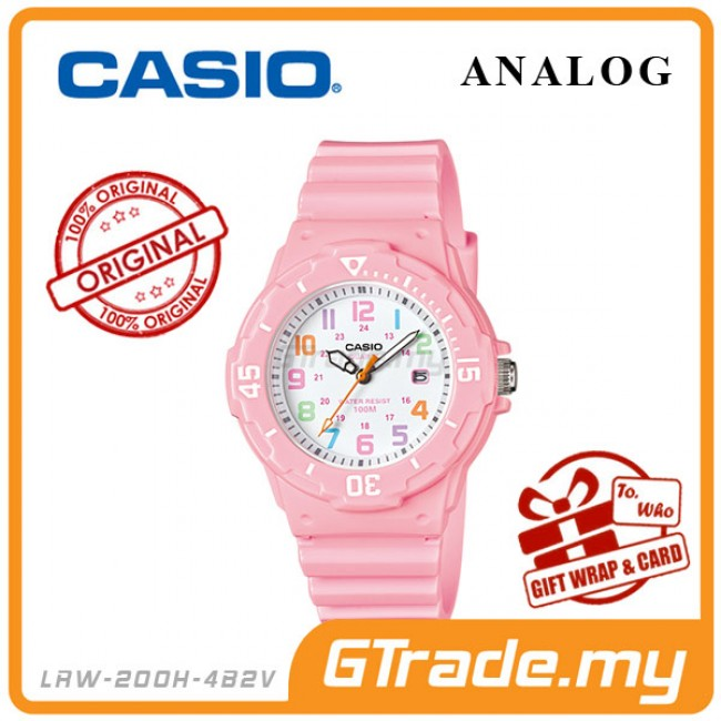 CASIO Ladies Kids Analog Watch Jam Casio Ori Gadis Kanak 2 LRW-200H