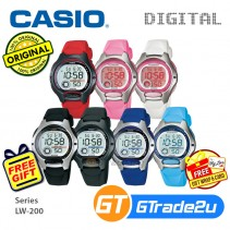 CASIO Ladies Kids Young Digital Watch Jam Casio Ori Kanak-Kanak LW-200