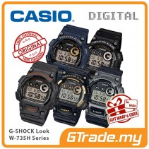 CASIO Men Sports Digital Watch Jam Casio Ori Senaman Lelaki W-735H