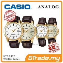 CASIO Men Women Couple Watch Jam Casio Pasangan Original MTP-LTP-V004GL