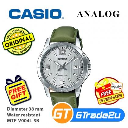 Casio Men Women Couple Analog Watch jam tangan lelaki wanita MTP-LTP-V004L Leather