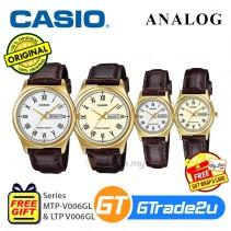 CASIO Men Women Watch Jam Casio Lelaki Wanita Original MTP-LTP-V006GL