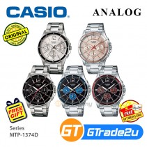 CASIO Men Watch Gentleman Multi-Hand Steel Jam Casio Ori Lelaki MTP-1374D