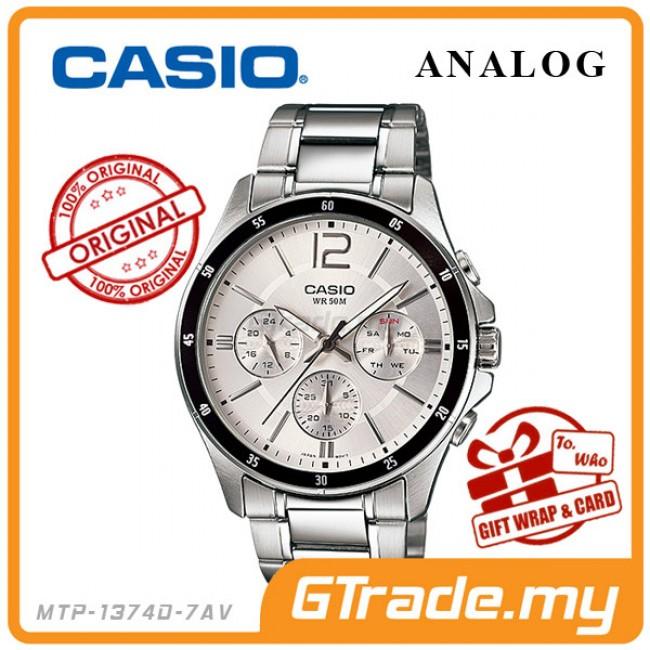 CASIO Men Watch Gentleman Multi-Hand Jam Casio Ori Lelaki MTP-1374D
