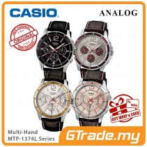 CASIO Men Watch Gentleman Multi-Hand Jam Casio Ori Lelaki MTP-1374L