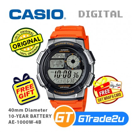 CASIO Men Digital Watch Jam Casio Digital Ori Lelaki AE-1000W 10 Years Batt.