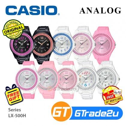 Casio Women Kids LX-500H Analog Watch Fashionable Shiny Ring On The Bezel