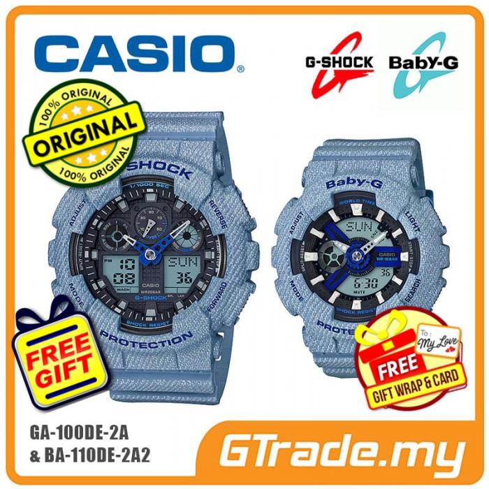 1de6ce1588a0c CASIO G-SHOCK BABY-G GA-100DE-2A BA-110DE-2A2 Couple Watch Denim