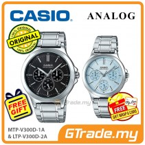[READY STOCK] CASIO COUPLE MTP-V300D-1AV & LTP-V300D-2AV Analog Watch