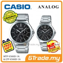 [READY STOCK] CASIO COUPLE MTP-V300D-1AV & LTP-V300D-1AV Analog Watch