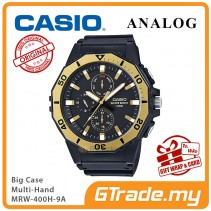 CASIO MEN MRW-400H-9A Analog Watch |Big Size Day Date 24 Hour Display
