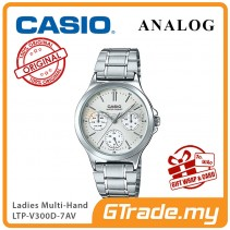 [READY STOCK] CASIO LADIES LTP-V300D-7AV Analog Watch | Multi-Hand Water Resistant