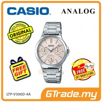 CASIO LADIES LTP-V300D-4AV Analog Watch | Multi-Hand Water Resistant