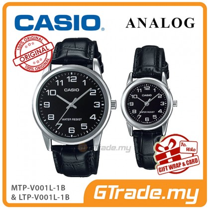 [READY STOCK] CASIO Couple MTP-V001L-1B & LTP-V001L-1B Couple Watch Simple Easy
