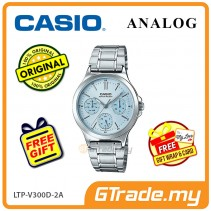 CASIO LADIES LTP-V300D-2AV Analog Watch | Multi-Hand Water Resistant