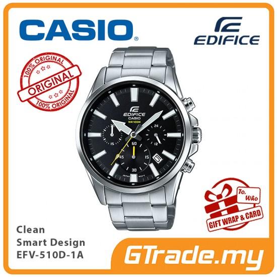 CASIO EDIFICE EFV-510D-1A Men Chronograph Watch | Clean Smart Design