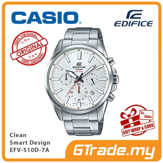 CASIO EDIFICE EFV-510D-7A Men Chronograph Watch | Clean Smart Design