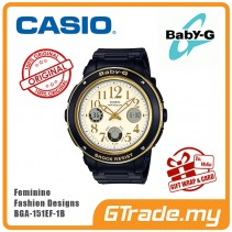 CASIO Baby-G BGA-151EF-1B Ladies Women Watch| Feminine Fashion Designs