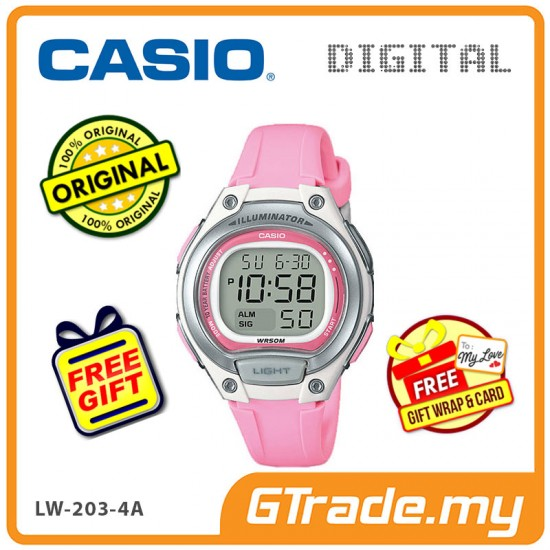 [READY STOCK] CASIO Kids Ladies LW-203-4A Digital Watch | Cool Futuristic Standout