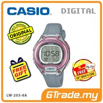 [READY STOCK] CASIO Kids Ladies LW-203-8A Digital Watch | Cool Futuristic Standout