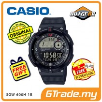 CASIO OutGear SGW-600H-1B Men Watch | Digital Compass Thermo