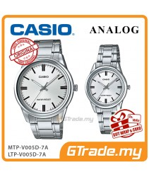 CASIO MTP-V005D-7A & LTP-V005D-7A Couple Watch | Simple Clean Design