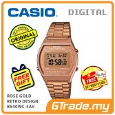 [READY STOCK] CASIO DIGITAL B640WC-5AV Men/Ladies Digital Watch | Retro Rose Gold