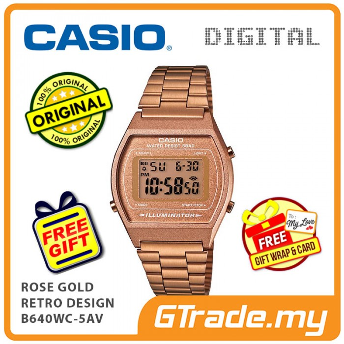3299dba1a38 READY STOCK  CASIO DIGITAL B640WC-5AV Men Ladies Digital Watch ...