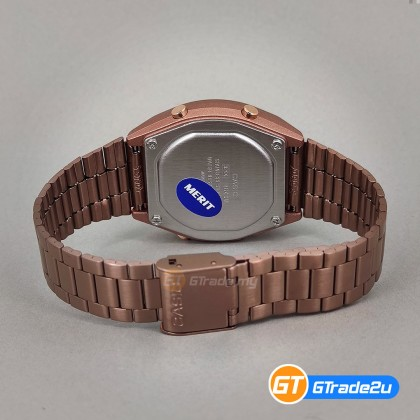 [READY STOCK] CASIO STANDARD B640WC-5A Men Digital LED Backlight Watch Stainless Steel Band Rose Gold watch for man . jam tangan lelaki . men watch . watch for men . casio watch for men . casio watch