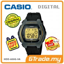 [READY STOCK] CASIO DIGITAL HDD-600G-9AV Watch | Dual Time 10 Years Battery Life