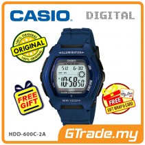 [READY STOCK] CASIO DIGITAL HDD-600C-2AV Watch | Dual Time 10 Years Battery Life