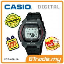 [READY STOCK] CASIO DIGITAL HDD-600-1AV Watch | Dual Time 10 Years Battery Life